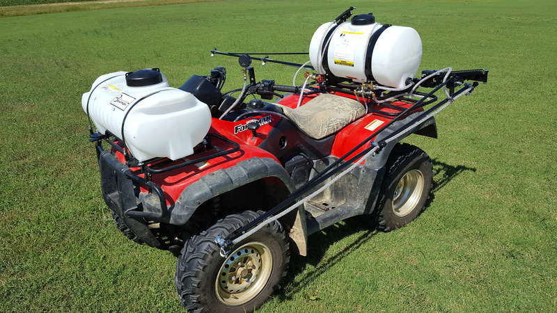 bowman manufacturing sprayers and booms atv mount includes handlebar mounted pressure gauge toggle switch and wiring harness